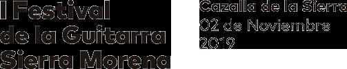 I Festival de la Guitarra Sierra Morena Logo